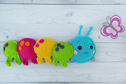 Caterpillar Kawaii Cuddler™ Crochet Pattern