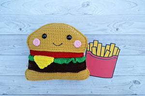 Cheeseburger Kawaii Cuddler® Crochet Pattern