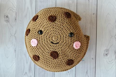 Chocolate Chip Cookie Kawaii Cuddler® Crochet Pattern