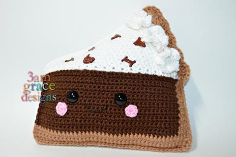 Chocolate Cream Pie Kawaii Cuddler® Crochet Pattern