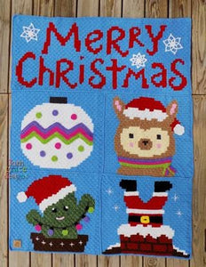 Christmas C2C Crochet Graphgan Blanket