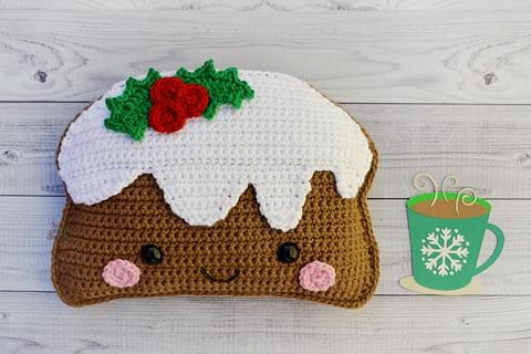 Christmas Pudding Kawaii Cuddler™ Crochet Pattern