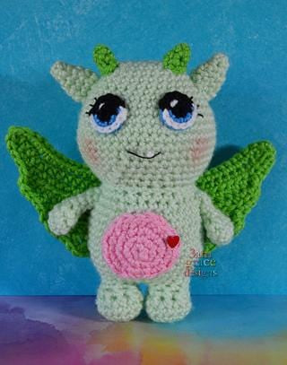 Dylan the Valentine Dragon Amigurumi Crochet Pattern