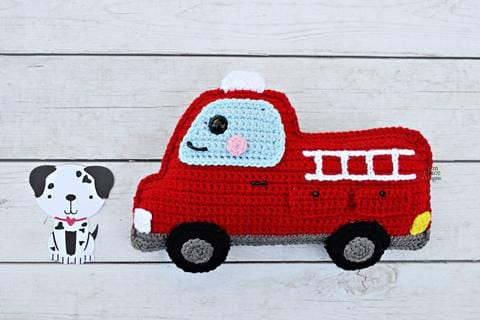 Fire Truck Kawaii Cuddler® Crochet Pattern