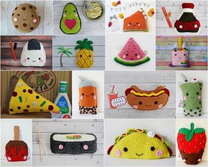 Kawaii Food Crochet Pattern Bundle