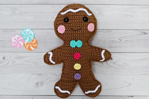 Gingerbread Boy Kawaii Cuddler® Crochet Pattern