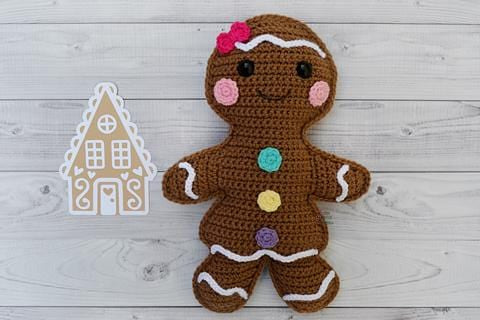 Gingerbread Girl Kawaii Cuddler™ Crochet Pattern