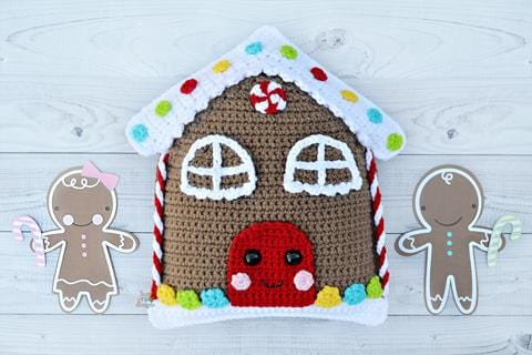 Gingerbread House Kawaii Cuddler™ Crochet Pattern