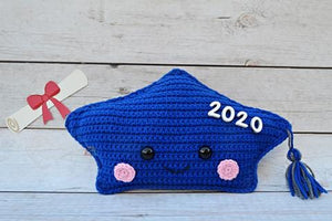 Graduation Cap Kawaii Cuddler® Crochet Pattern