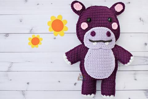 Hippo Kawaii Cuddler® Crochet Pattern