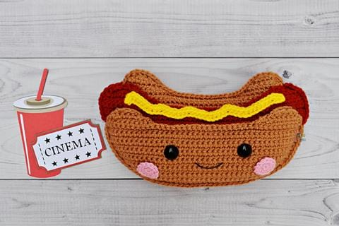 Hot Dog Kawaii Cuddler® Crochet Pattern
