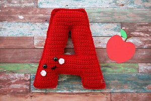 Alphabet Letter A Upper Case Kawaii Cuddler® Crochet Pattern