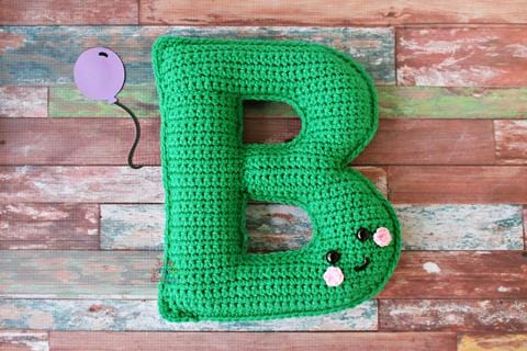 Alphabet Letter B Upper Case Kawaii Cuddler® Crochet Pattern