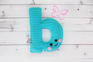 Alphabet Letter b Lower Case Kawaii Cuddler® Crochet Pattern