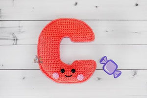 Alphabet Letter c Lower Case Kawaii Cuddler® Crochet Pattern
