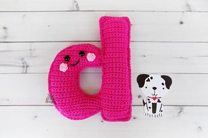 Alphabet Letter d Lower Case Kawaii Cuddler® Crochet Pattern