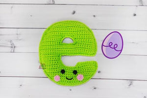 Alphabet Letter e Lower Case Kawaii Cuddler® Crochet Pattern