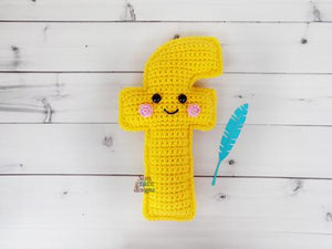 Alphabet Letter f Lower Case Kawaii Cuddler® Crochet Pattern