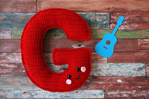 Alphabet Letter G Upper Case Kawaii Cuddler® Crochet Pattern