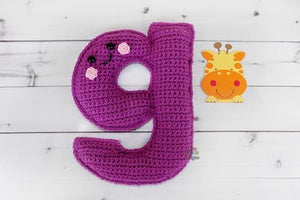 Alphabet Letter g Lower Case Kawaii Cuddler® Crochet Pattern
