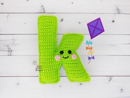Alphabet Letter k Lower Case Kawaii Cuddler® Crochet Pattern