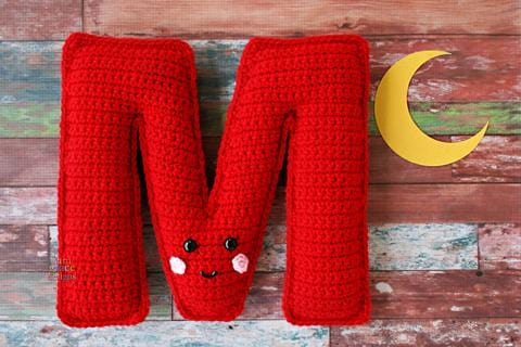 Alphabet Letter M Kawaii Cuddler™ Crochet Pattern