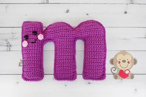 Alphabet Letter m Lower Case Kawaii Cuddler® Crochet Pattern