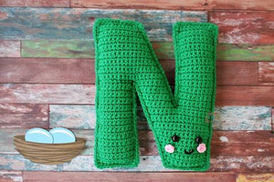 Alphabet Letter N Upper Case Kawaii Cuddler™ Crochet Pattern