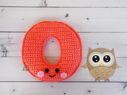 Alphabet Letter o Lower Case Kawaii Cuddler™ Crochet Pattern