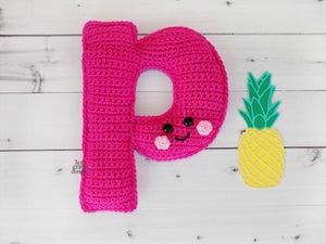 Alphabet Letter p Lower Case Kawaii Cuddler™ Crochet Pattern