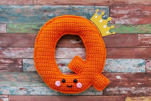 Alphabet Letter Q Upper Case Kawaii Cuddler™ Crochet Pattern