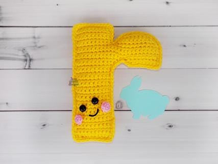 Alphabet Letter r Lower Case Kawaii Cuddler® Crochet Pattern