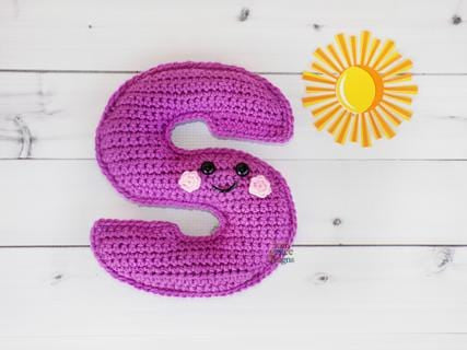 Alphabet Letter s Lower Case Kawaii Cuddler™ Crochet Pattern