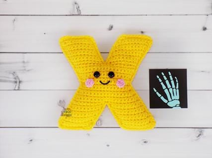 Alphabet Letter x Lower Case Kawaii Cuddler® Crochet Pattern