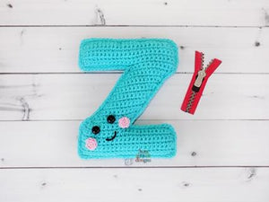 Alphabet Letter z Lower Case Kawaii Cuddler™ Crochet Pattern
