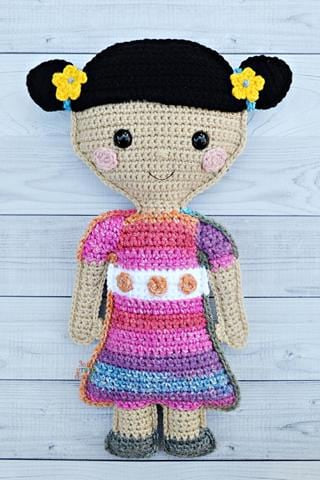 Little Girl Doll Kawaii Cuddler® Crochet Pattern
