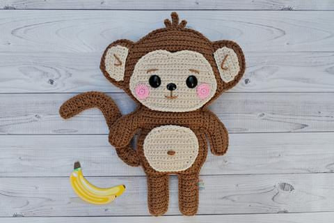 Monkey Kawaii Cuddler® Crochet Pattern