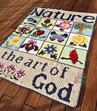 Nature Blanket C2C Crochet Graphgan Blanket