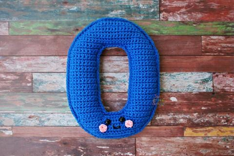 Number 0 Zero Kawaii Cuddler™ Crochet Pattern