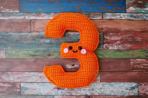 Number 3 Three Kawaii Cuddler® Crochet Pattern