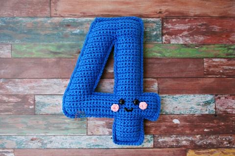 Number 4 Four Kawaii Cuddler® Crochet Pattern