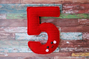 Number 5 Five Kawaii Cuddler® Crochet Pattern