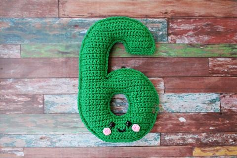Number 6 Six Kawaii Cuddler® Crochet Pattern