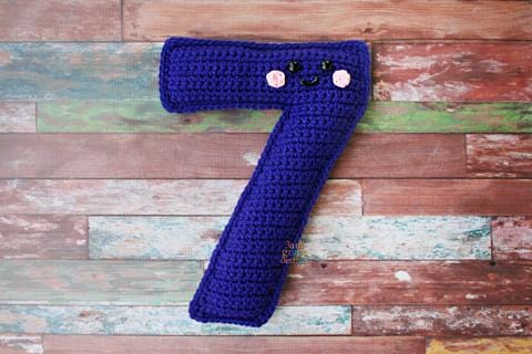 Number 7 Seven Kawaii Cuddler® Crochet Pattern