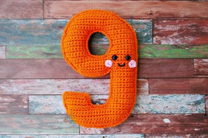 Number 9 Nine Kawaii Cuddler® Crochet Pattern