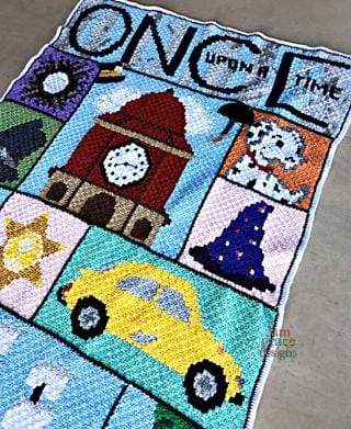 Once Upon A Time C2C Crochet Graphgan Blanket