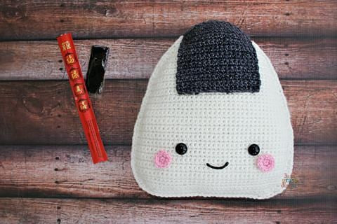 Onigiri Rice Ball Kawaii Cuddler® Crochet Pattern
