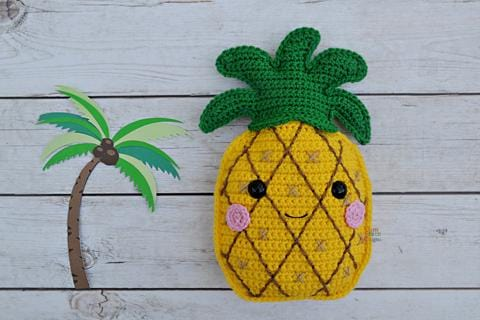 Pineapple Kawaii Cuddler™ Crochet Pattern