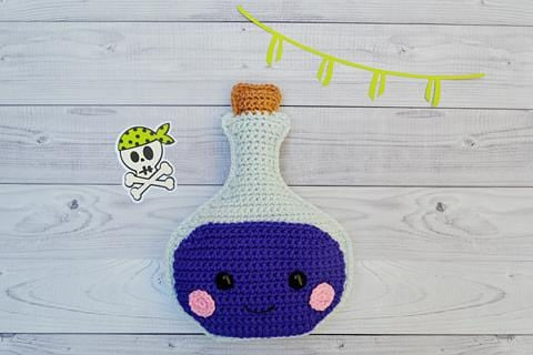 Potion Bottle Kawaii Cuddler® Crochet Pattern