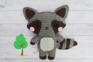 Raccoon Kawaii Cuddler® Crochet Pattern